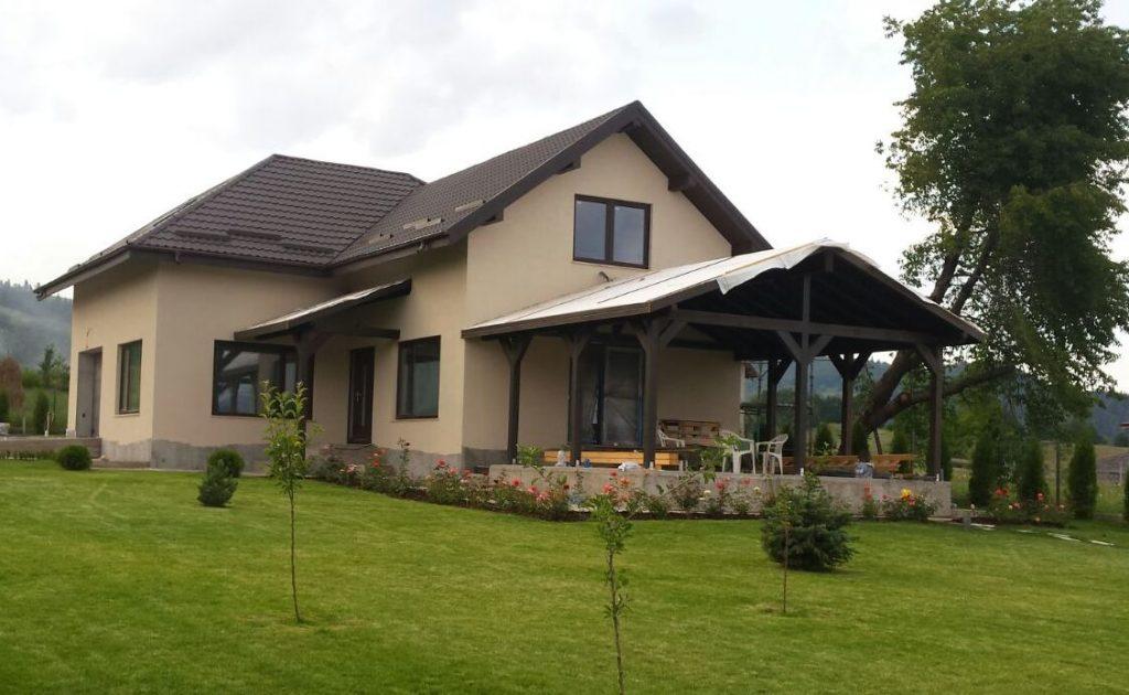 Terase lemn red cons grup case de lemn structuri for Case cu terase